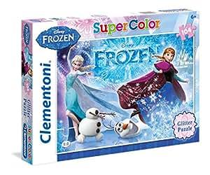 Frozen Glitter Puzzle (104 Pieces)