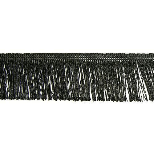 Fransen Fransenborte 5 cm breit schwarz Borte Accessoires Karneval Dekorationen - Preis gilt für 1 m