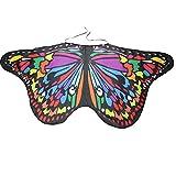 SEWORLD Damen Böhmischen Schmetterling Schal Pashmina Pixie Halloween Cosplay Weihnachten Cosplay Kostüm Zusatz(Adult-Mehrfarbig2,147 * 68CM)