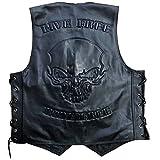 Lederweste Totenkopf Skull Hells Design