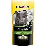GimCat Grasbits, Golosinas para Gatos con Vitaminas, Minerales, Aminoácidos y Oligoelementos - 40 gr