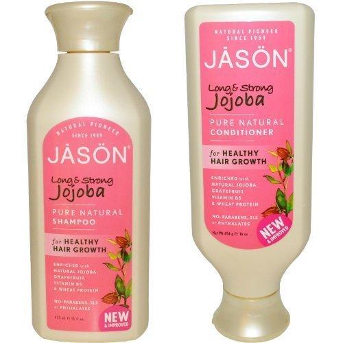 Jason Long & Strong Jojoba Pure Natural Shampoo and Conditioner Duo - 16 oz by Jason