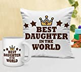 #3: TiedRibbons Gifts For Girl Cushion(12 inch X 12 inch) with Coffee Mug(300ml,Ceramic)