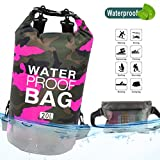 Idefair Waterproof Dry Bag, Floating Dry Backpack Beach bag Lightweight Dry Sack