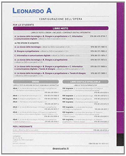 Leonardo. Vol. A-B. Per la Scuola media  . Con e-book