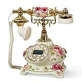 LLP LM Antike Telefon Feste Sitzmaschine Hause Retro Telefon Anrufer ID 24 * 25.5cm