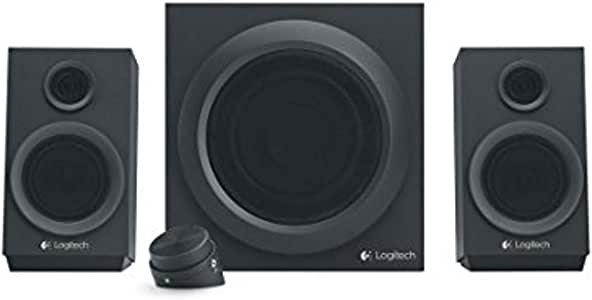 Logitech Z333 2.1 Lautsprecher-System mit Subwoofer, Satter Bass, 80 Watt Spitzenleistung, 3.5mm & Cinch-Eingänge, Multi Device, Steuergerät, PC/PS4/Xbox/TV/Smartphone/Tablet