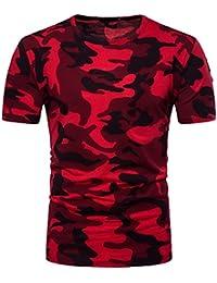 Longra Ropa ★ Camiseta Hombre,Longra ★ Camiseta de Manga Larga con Cuello EN V y Manga Corta de Hombre