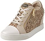 Guess Damen Footwear Active Lady Sneaker, Mehrfarbig (BEIGE/Light Brown BEIBR), 38 EU