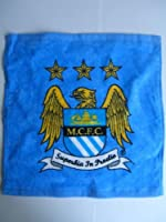 OFFICIAL MANCHESTER CITY FC CRESTED FACE CLOTH FLANNEL