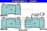 ATE 13.0470-4851.2 ATE Ceramic Bremsbelagsatz, Scheibenbremse - (4-teilig)