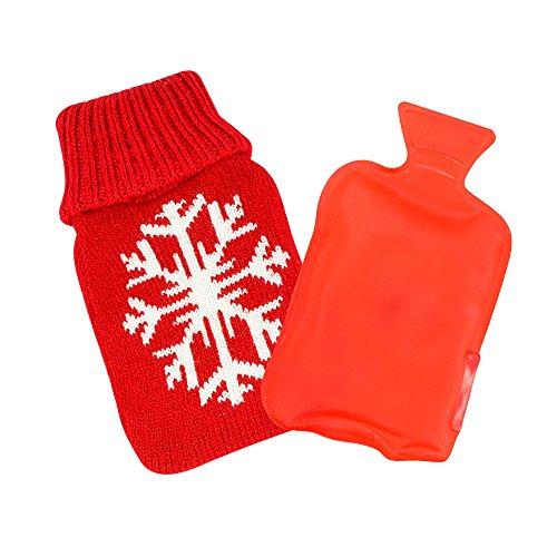 1 x Taschenheizkissen \'\'Xmas\'\' rot - große Schneeflocke | Taschenheizkissen Kinder | Geschenk für Frauen | Handwärmer | Taschenwärmer Kinder | Fingerwärmer für Damen | Handwärmer für Skifahrer | Preis am Stiel®
