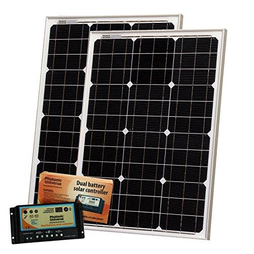 100 W (entspricht 50 W, entspricht 50 W), für Photonic Universe Solarladegerät, 12 V, Solarzellen von BOSCH, 10 A controller, Akku und Kabel, für Wohnmobile, Wohnwagen, Boote oder andere 12 / 24 V system (DE)