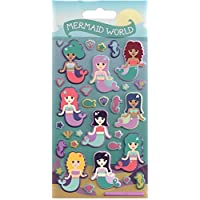 Mermaid World Puffy Sticker Sheet - Party Loot Bag Filler