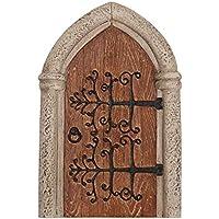 Miniature mondo MW06–011–Resina gotico in legno Fata Door