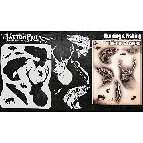 Tattoo Pro Schablonen Serie 4–Jagen & Fischen