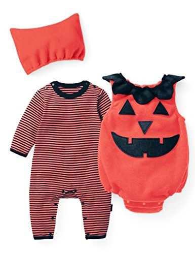Girl Halloween Baby (Little Hand® Toddler Boys Girls Pyjamas One-Piece with Hat Climbing Jumpsuits)