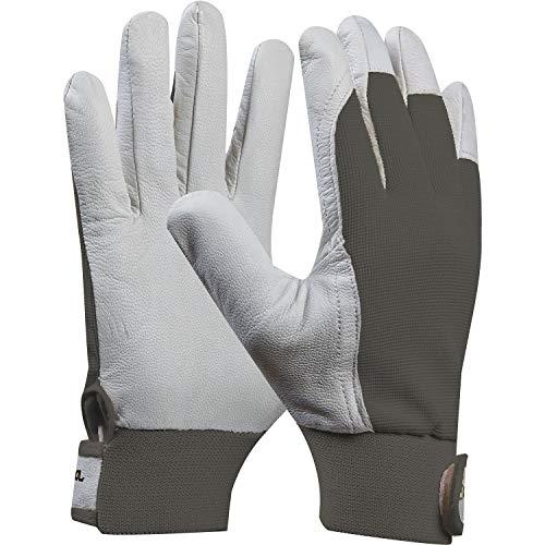 GEBOL 703431 Arbeitshandschuh Uni Fit Comfort, 1 Paar, Grau, Größe 9 (L)