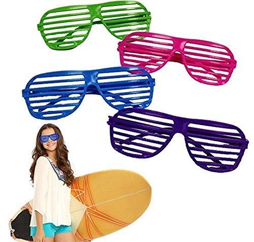 UChic 5 STÜCKE Spielzeug 80's 80's Schlitz Spielzeug Jalousien Fashion Shutter Gläser Sonnenbrille Party Favors Party Requisiten Farbe Zufällig