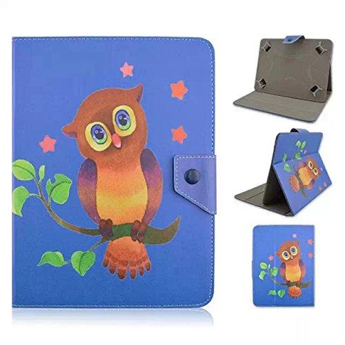 Lindo búho para Tablet de 10, diseño Universal funda de cuero tipo libro para Magic funda de piel Para 10'10Inch Android Tablet (Dragon Touch X10Tablet de 10.6pulgadas/Lenovo Tab 2A10–70F Tablet/10.1Fusion5104GPS Tablet/NeoCore B110.1Pulgadas Tablet/10.1' pulgadas Quad Core Tablet/Lenovo Tab 2A10Tablet de 10pulgadas) funda protectora funda (búho siempre Love you) Blue&owl
