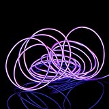Néon Stroboscopique Lumière Strobing Light Neon Strobing Light, Hankyky 5 in 1 LED Strip 1m 3.28ft Clignotant Cool Glowing Waterproof Flexible Wire Rope El Diy Kit pour Halloween Décoration Fête Noel