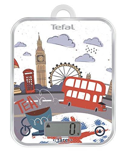 Tefal BC5124V0Bc Optiss Cities Décor Küchenwaage, Motiv: London, aus Aluminium, mehrfarbig, 18x 2,9x 23,2cm