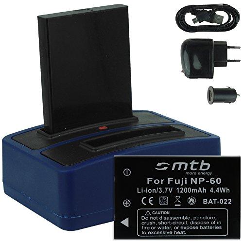 2x batteria + caricabatteria doppio (usb/auto/corrente) per drift hd (1080p), hd170 (stealth), hd720 / toshiba camileo h20 ... / ricoh caplio rr10 uvm... v. lista