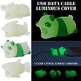 squarex Kabel Bite, Neue Luminous USB Dream Kabel Bite für iPhone Kabel Cute Animal Handys Zubehör schützt, Damen, a, Size : 1.5 * 2 * 40 mm