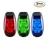 Vimmor 3 Stk. LED-Sicherheitsleuchten 3 Modi Clip auf Strobe/Lauflicht/Wasserdicht Fahrrad Hinten Rücklicht/Blinkende Hundehalsband mit Clip für Laufen, Wandern, Radfahren, Helm