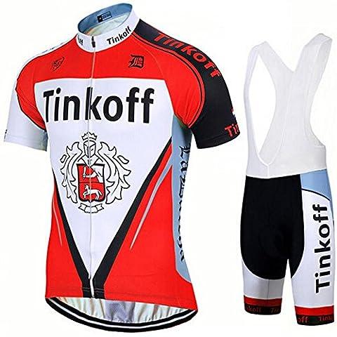 Outdoor Sports Mens Short Sleeve Cycling atmungsaktive Kleidung 3D Padded Bib Short Set Jersey Quick-dry Polyester