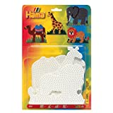 Hama 4554 - Blisterpackung große Stiftplatten, Elefant, Giraffe, Löwe, Kamel, 4 Stück