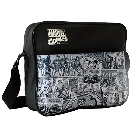 Marvel Comics Cartoon Style Courier Messenger Shoulder School Bag