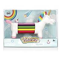 NPW Colouring Pencils/Pencil Crayons Pencil Holder Set - 10 Assorted Colours Unicorn Rainbow Pencils