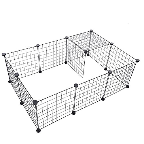 Heavy Duty Pet Playard Barrera de puerta de pared para bebé y mascota Indoor & Outdoor 35x35cm (6 pcs)