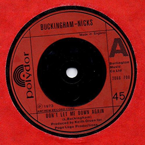 don't let me down again / crystal 45 rpm single Buckingham Crystal