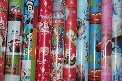 Disney Motive Goofy Micky Mouse Schneemann Geschenk Weihnachten fuer Kinder Geschenkpapier 200 x 70 cm verschiedene Designs ()