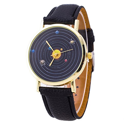 mixe-hot-solar-system-unisex-women-quartz-casual-leather-watch-black