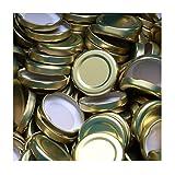 100 Stück X to 43 mm Gold Schraubdeckel für Gläser • Twist Off Deckel Verschluss Ø 43mm • Ersatzdeckel To43 • 25,50,100,150,200,250,500 Stück • Große Auswahl Verschiedene Größen und Farben