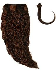 Sans chear vague trame Extension de cheveux humains avec de mélange tissage, Nombre P1B/30, Off moyenne Noir/auburn...