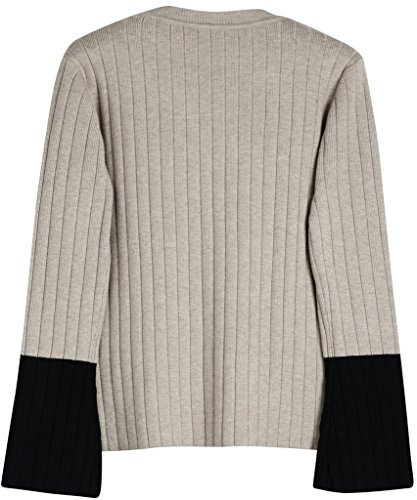 Vogueearth Fashion Hot Femme's Ladies Pleated Knit Jumper Sweater Chandail Tricots Pullover Top Abricot