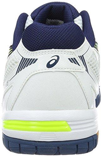ASICS Homme Chaussures Gel Flare 5, blanc, bleu white/poseidon/flame