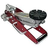 Aluminium Rangierwagenheber mit Ø 125mm Tragteller und Profilgummiauflage - Rot (RA) -