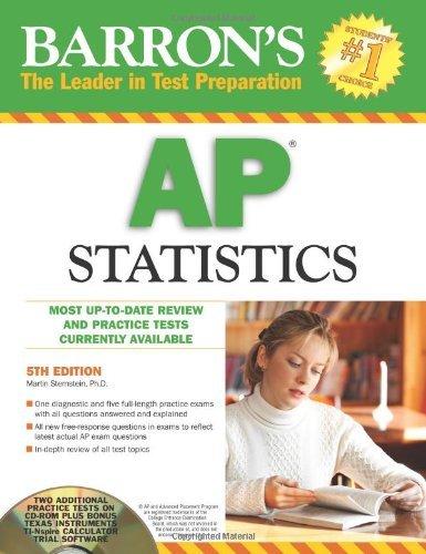 Barron's AP Statistics with CD-ROM (Barron's AP Statistics (W/CD)) by Martin Sternstein Ph.D. (2010-02-01)