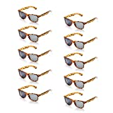 ONNEA 10 Paare Party Favors Sonnenbrille Set Sommer Kinder Damen (Leopard 10-pack)