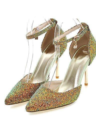LFNLYX Scarpe Donna-Sandali-Formale / Casual / Serata e festa-Tacchi / D'Orsay / A punta-A stiletto-Lustrini-Nero / Verde / Rosa Black