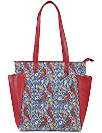 Women's Printed Tote Bag With Side Pockets From Decorous(MultiColour)