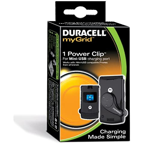 Duracell myGrid Mini USB Power Clip, Negro