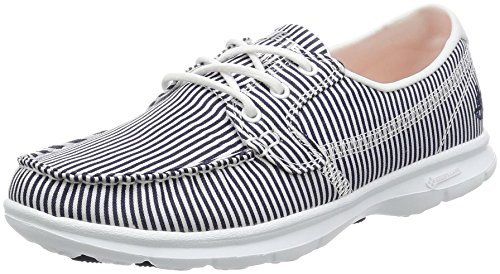 Skechers Women Go Step-Sandy Boat Shoes, Blue (Nvw), 6 UK 39 EU