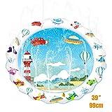 Termichy Splash Pad, 39 Zoll Sprinkler und Splash Play Matte, Sommer Garten Wasserspielzeug für Kinder, Baby, Hund und Haustiere (Blauer Himmel)