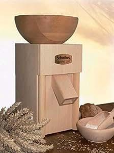 Schnitzer moulin à grains gRANO 200 avec entonnoir en bois de hêtre massif